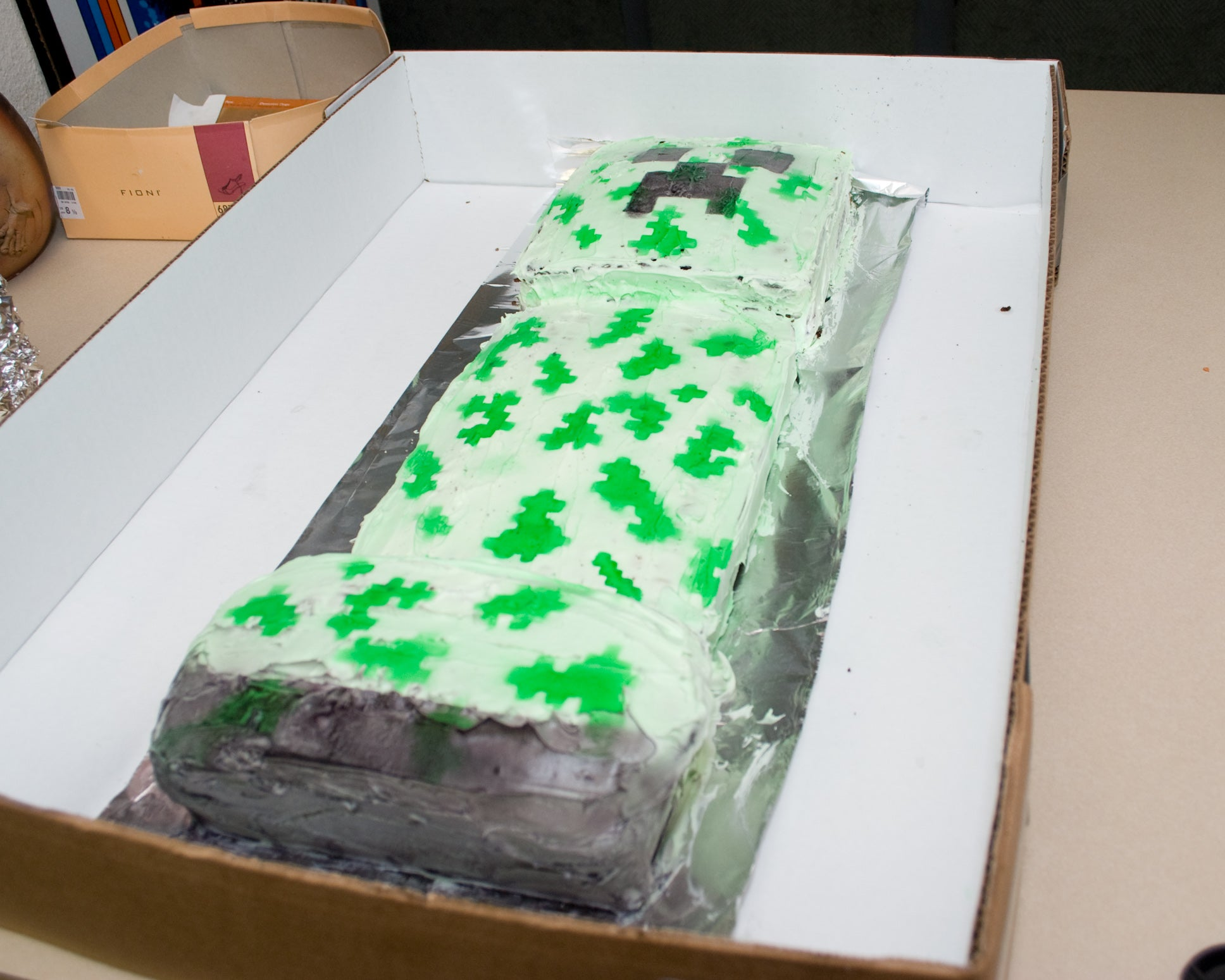 Minecraft Creeper Cake Moocowproductions
