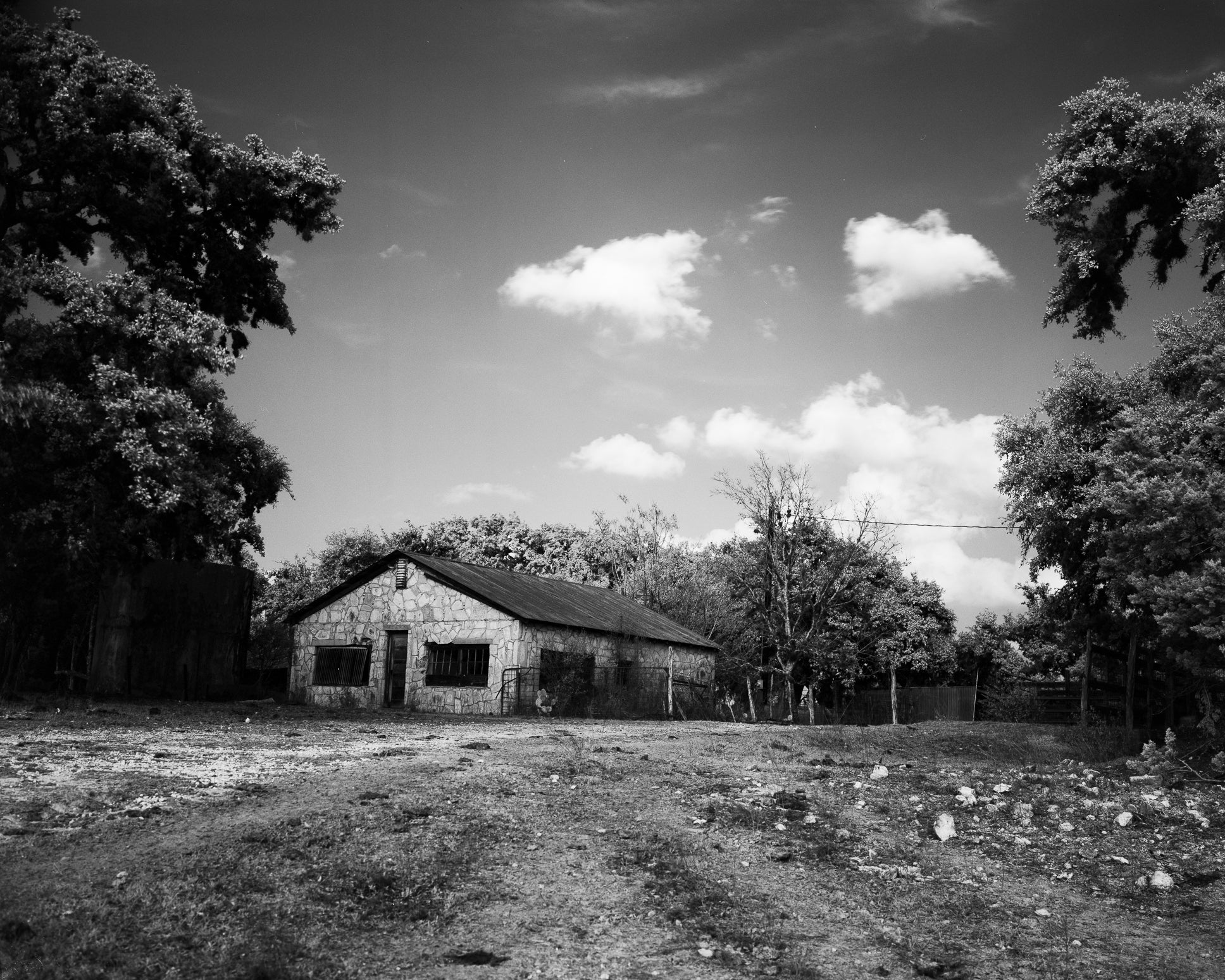 The Old Stone House In Infrared